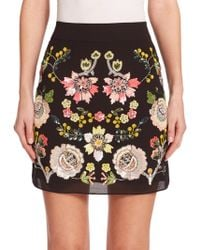 Needle & Thread Sequined Floral Skirt - Lyst
