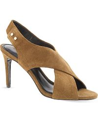 Sandro Suede Sandals - For Women - Lyst