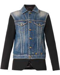 R13 Denim Gilet Overlay Tuxedo Jacket - Lyst