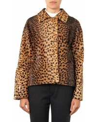Inès & Maréchal - Wolga Leopard-Print Calf-Hair Jacket - Lyst