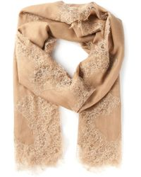 Valentino Beige Lace Scarf - Lyst