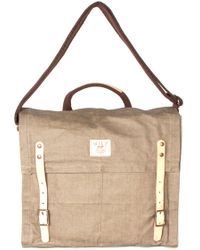 Will Leather Goods Waxed Canvas Messenger Bag - Lyst