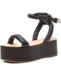 Mm6 By Maison Martin Margiela Wedge Sandals - Lyst