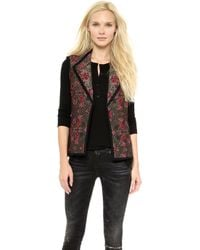 OTTE New York | Chloe Quilted Vest - Gold/Pink | Lyst