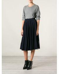 Comme Des Garçons Elasticated Waist Skirt - Lyst