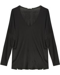 American Vintage Sandy T-Shirt black - Lyst