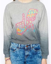Asos Sweatshirt with Embroidered La Hands - Lyst