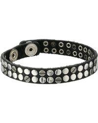 Diesel Black Abivitex Bracelet - Lyst