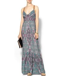 Twelfth Street by Cynthia Vincent Leather Wrap Maxi Dress - Lyst