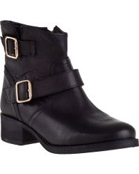 Steve Madden Tiarra Short Boot Black Leather black - Lyst