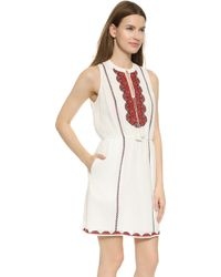 Madewell Embroidered Nora Tunic Dress - White Wash - Lyst