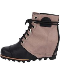 Sorel | Premium Leather Wedge Boots | Lyst