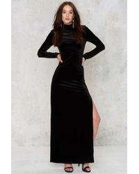 Nasty Gal | Zealot For Velvet Dress - Black | Lyst
