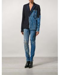 Greg Lauren - Distressed Slim Fit Jeans - Lyst