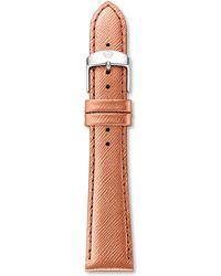 Michele Urban Saffiano Leather Watch Strap/20Mm - Lyst