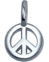 Alex Woo Sterling Silver Peace Sign Charm - Lyst