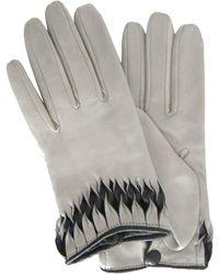 Thomasine Gloves - Milan Glove Twisted Wrist Deco Light Grey - Lyst