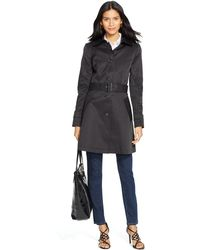 Lauren by Ralph Lauren Belted Trench Coat - Lyst