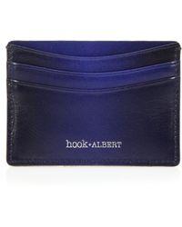 Hook + Albert Gradient Leather Card Case blue - Lyst