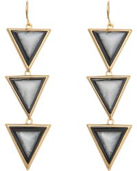 Isharya - Op Art Pyramid Quartz Earrings - Lyst