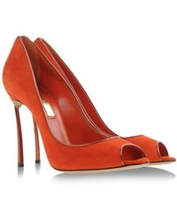 Casadei Open Toe red - Lyst