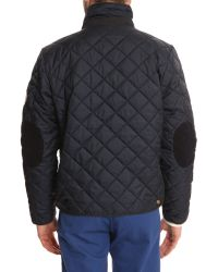 Knowledge Cotton Apparel Pet Navy Jacket With Detachable Quilting - Lyst