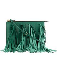 Marni Fringed Leather Shoulder Bag green - Lyst