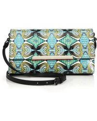Christian Louboutin Rougissime Multicolor Abstract Python Clutch multicolor - Lyst
