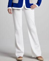 Misook White Boot-cut Pants - Lyst