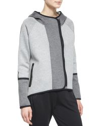 Elie Tahari Margie Hooded Off-Center-Zip Jacket - Lyst