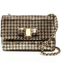 Ferragamo Shoulder Bag - Gelly Quilted Small gold - Lyst