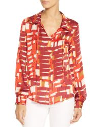 Vince Camuto - Graphic Steps Blouse - Lyst