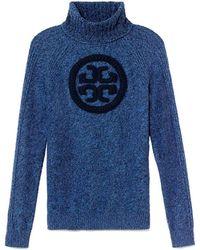 Tory Burch Blue Shirley Sweater - Lyst