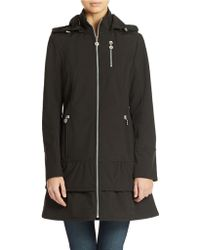 Betsey Johnson Hooded Zip Front Jacket - Lyst