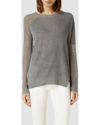 AllSaints Row Sweater - Lyst