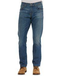 7 For All Mankind Carsen La Light Indigo Jeans - Lyst