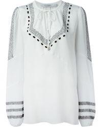 Altuzarra Tie Embroidered Blouse - Lyst