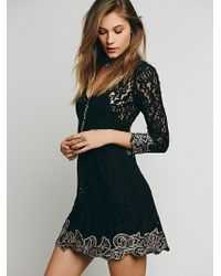 Free People Womens Fp X Cassidy Mini Dress - Lyst