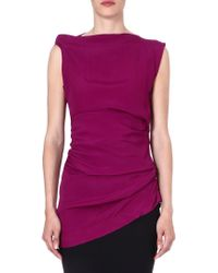 Vivienne Westwood Anglomania Taxa Sleeveless Top Purple - Lyst