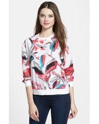 DKNY Print Crepe Sweatshirt - Lyst