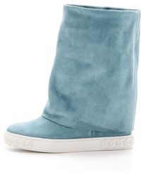 Casadei Reena Suede Boots - Skyline - Lyst