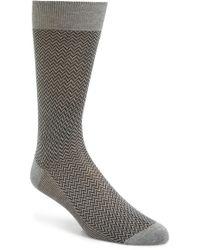 Canali - Zigzag Socks - Lyst