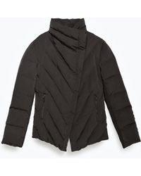 Zara | Tailored Quilted Coat | Lyst