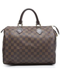 Louis Vuitton | Pre-owned Damier Ebene Speedy 30 Bag | Lyst