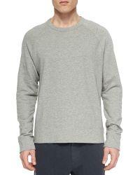 James Perse Vintage Heather Crewneck Sweater - Lyst