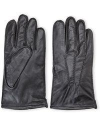 Original Penguin Black Leather Gloves - Lyst