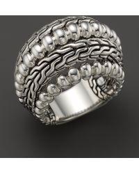 John Hardy Womens Bedeg Silver Dome Ring - Lyst