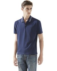 Gucci Cotton Jersey Polo Shirt - Lyst