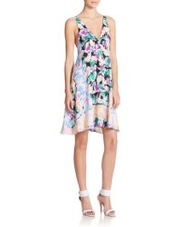 Nanette Lepore Wildflower Printed Silk Dress multicolor - Lyst