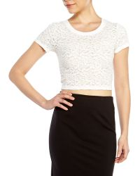 MINKPINK White Lace Crop Top - Lyst